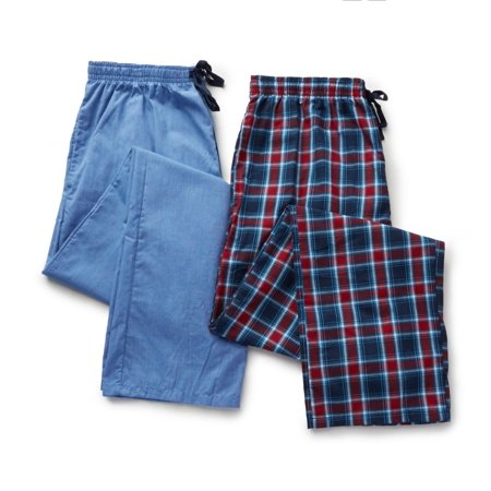 Men's Hanes 4025T Tall Man Woven Plaid Pants - 2 Pack](Onesie For Tall Man)