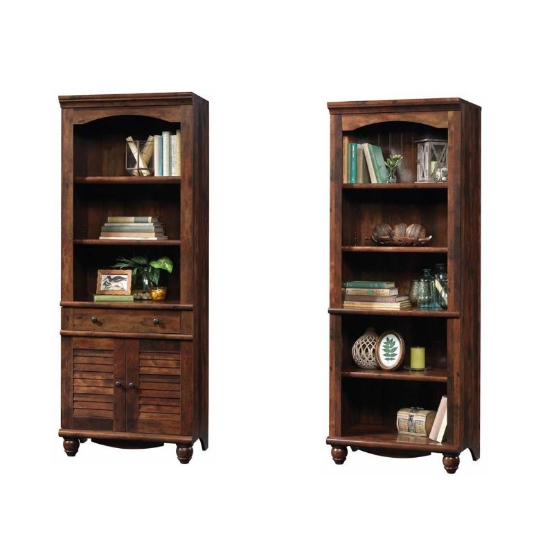Harbor View 2 Piece Wooden Bookcase Set in Cherry