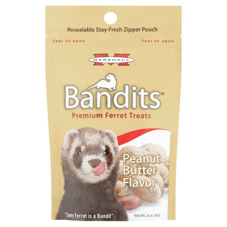 (2 Pack) Marshall Bandits Peanut Butter Flavor Premium Ferret Treats, 3 (Marshall Ferret Treats)