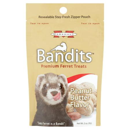 (2 Pack) Marshall Bandits Peanut Butter Flavor Premium Ferret Treats, 3 oz - Good Ferret Treats
