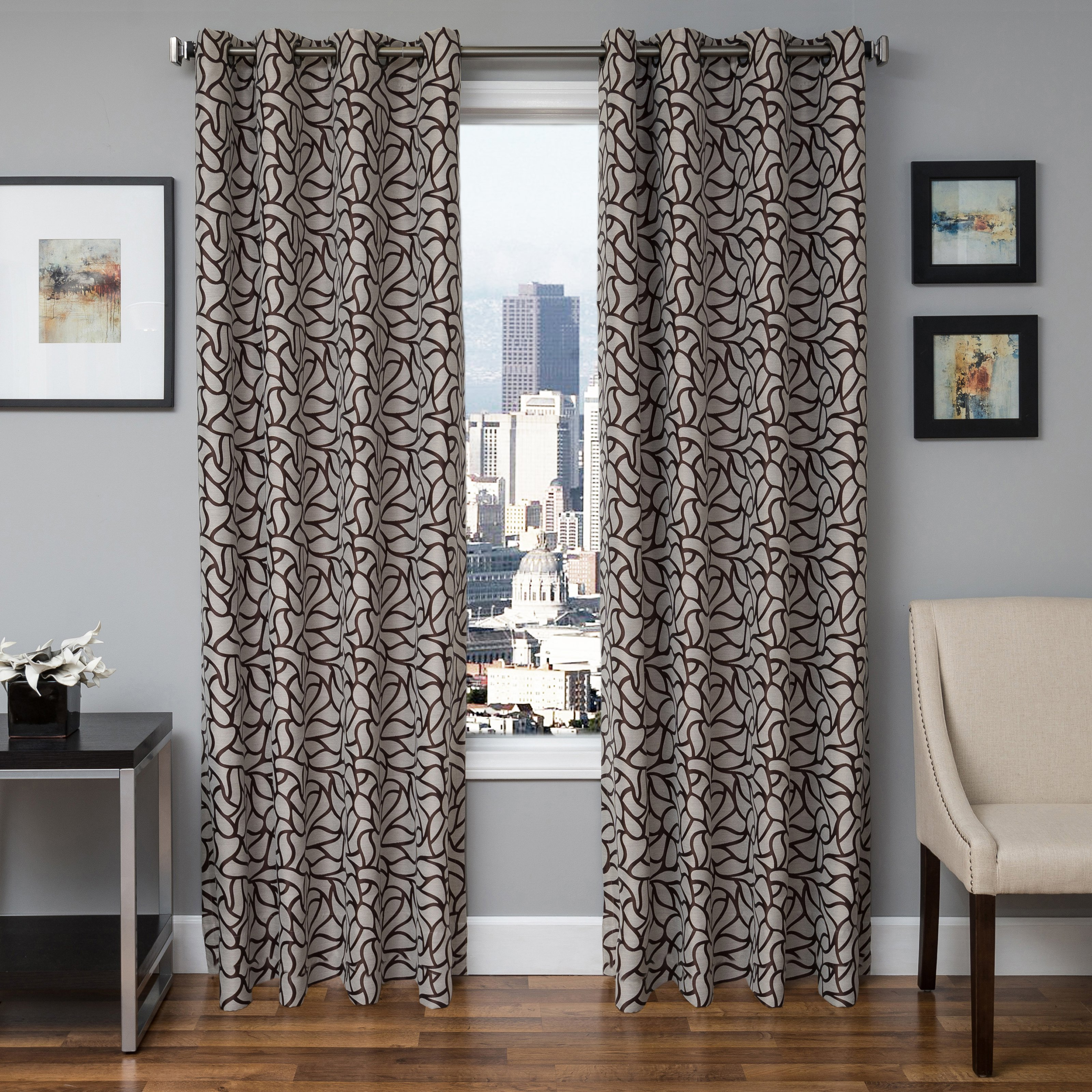 Softline Bancroft Jacquard Grommet Top Curtain Panel