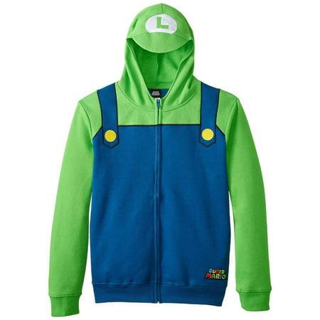 Nintendo - Luigi Youth Costume Zip Hoodie for $<!---->