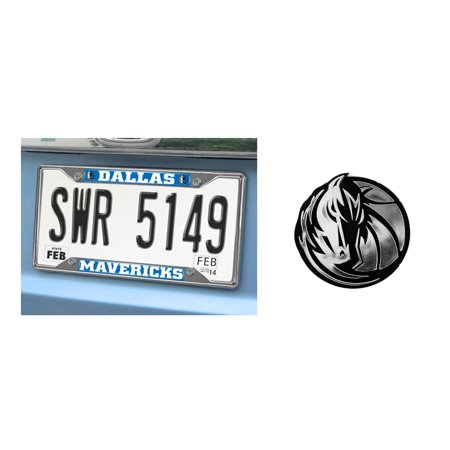 Dallas Mavericks License Plate And Chrome Emblem Walmart Com
