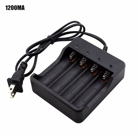 Smart 4 Slots 18650 Rechargeable Li-ion Battery AC Charger with LED Indicator
