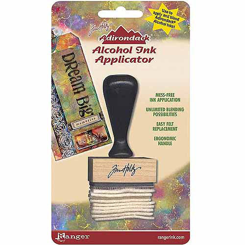 Ranger Adirondack Alcohol Ink Applicator, Stamp Handle and Felt Multi-Colored
