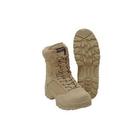 Desert Tan Tactical Boot with YKK Zipper, Easy On & Off