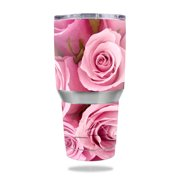 MightySkins Protective Vinyl Skin Decal for Ozark Trail 30 oz Tumbler wrap cover sticker skins Pink Roses