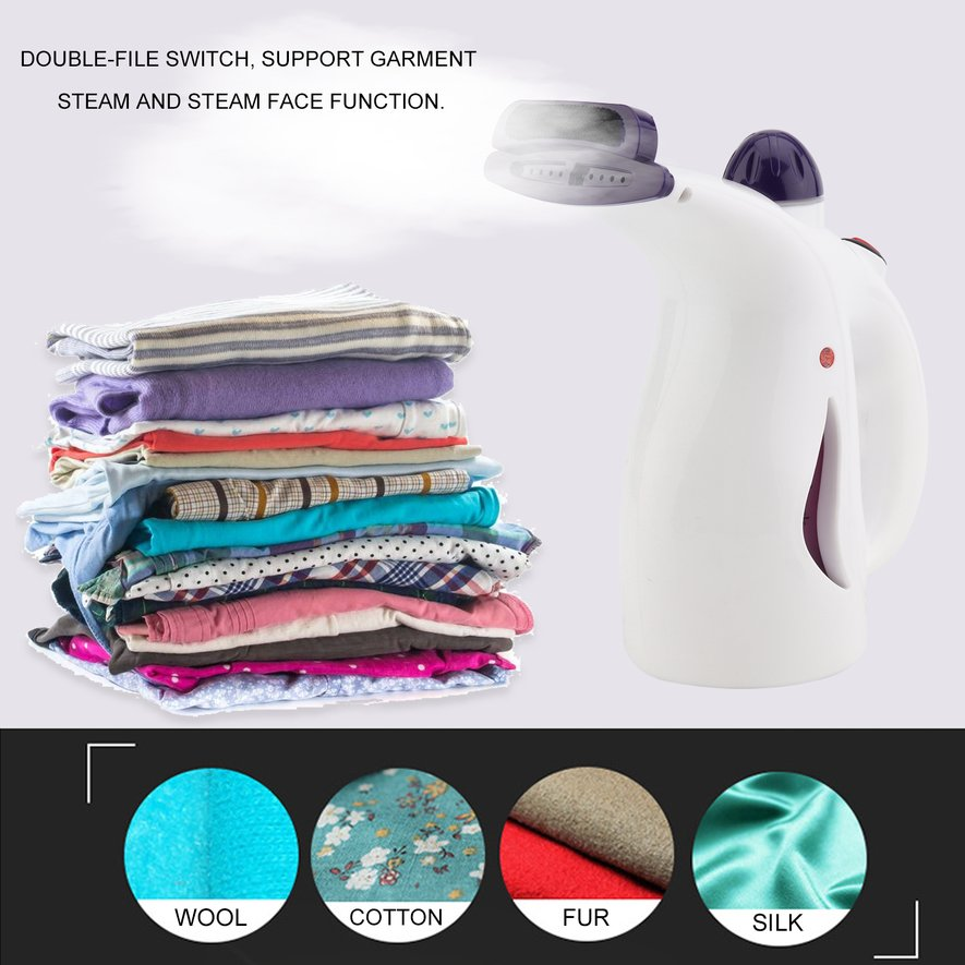 Portable Mini Electric Garment Steamer Fast Heating Handled Clothes Dryer Machine US Plug For Home Travel