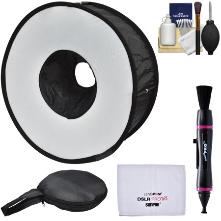 Precision Design PD-SBR Ring Soft Box Hot Shoe Flash Diffuser with Camera Cleaning - Precision Camera Flash