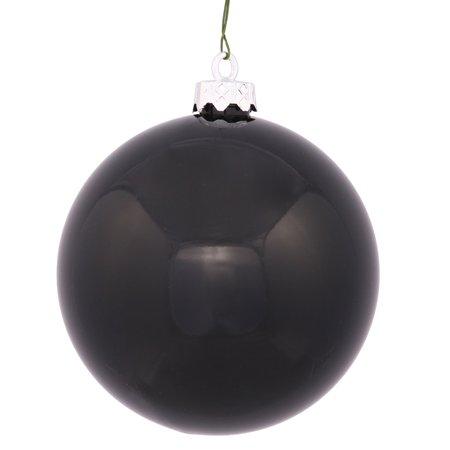 Shiny Jet Black UV Resistant Commercial Shatterproof Christmas Ball Ornament 4