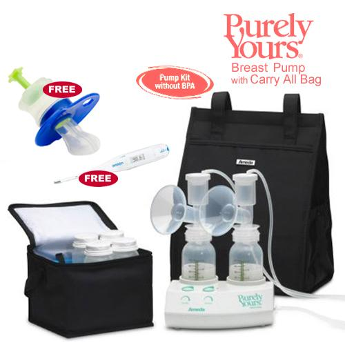 Ameda 17077KIT6 Purely Yours Breast Pump Combo 6 with Carry All Bag Free Omr by
