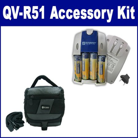 Casio Exilim QV-R51 Digital Camera Accessory Kit includes: SDC-27 Case, SB257 -
