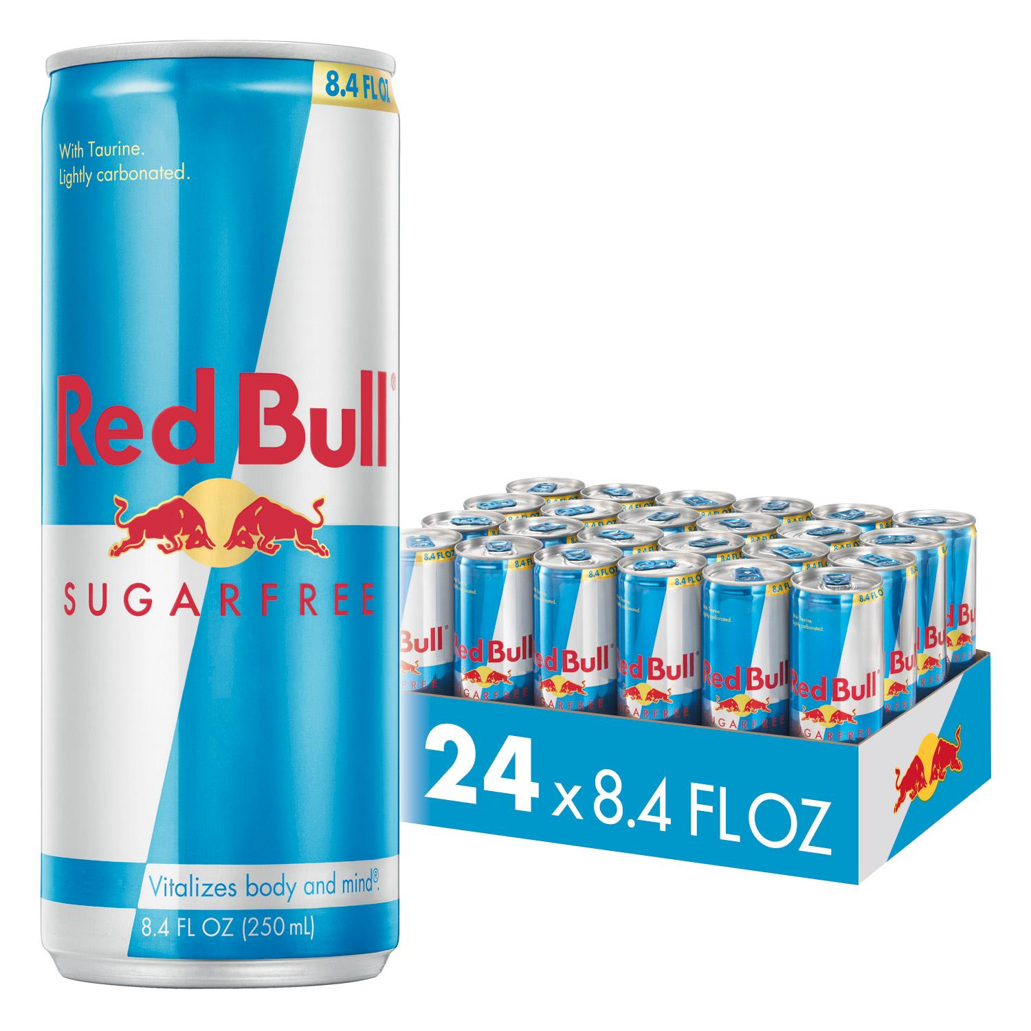 (24 Cans) Red Bull Sugarfree Energy Drink, 8.4 Fl Oz
