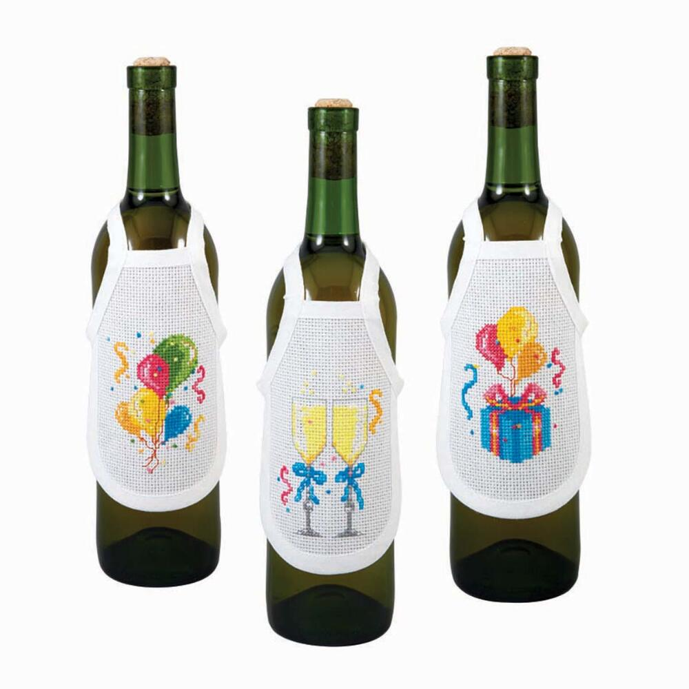 Embroidery cross stitch accessories Blank bottle apron Aprons suitable for cross stitching Blank Aida cross stitch fabric