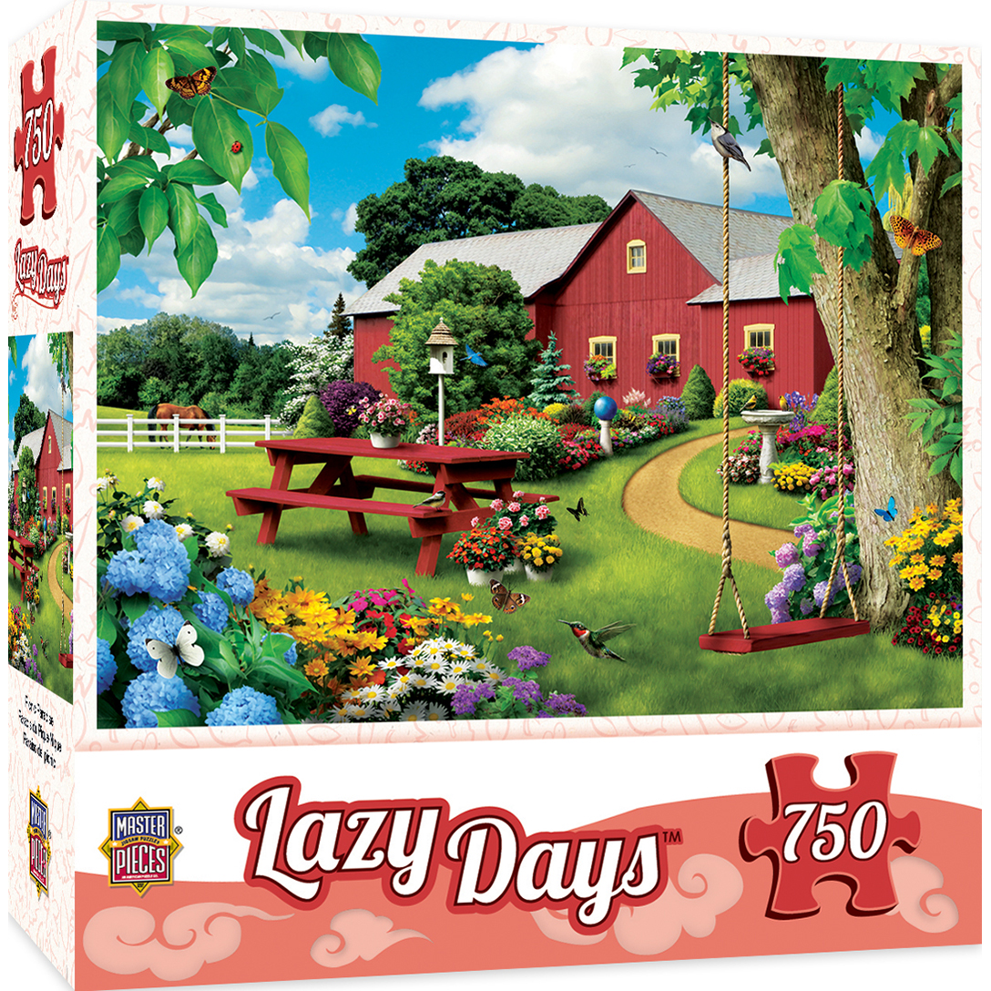 Lazy Days Picnic Paradise - 750 Piece Jigsaw Puzzle by Alan Giana
