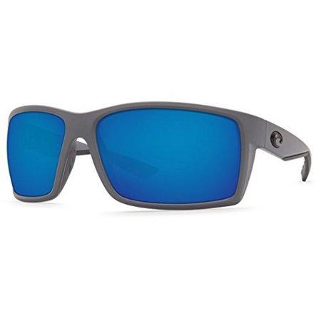 Costa Unisex Reefton, Blue Mirror Glass /Matte Gray Frame, OS