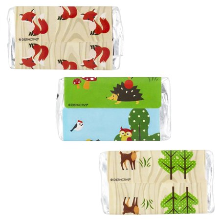 Woodland Animals Baby Shower Favor Stickers for Hershey's Miniatures Candy Bars (Set of 54)
