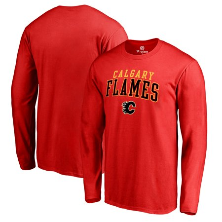 Calgary Flames Fanatics Branded Square Up Long Sleeve T-Shirt - Red - S