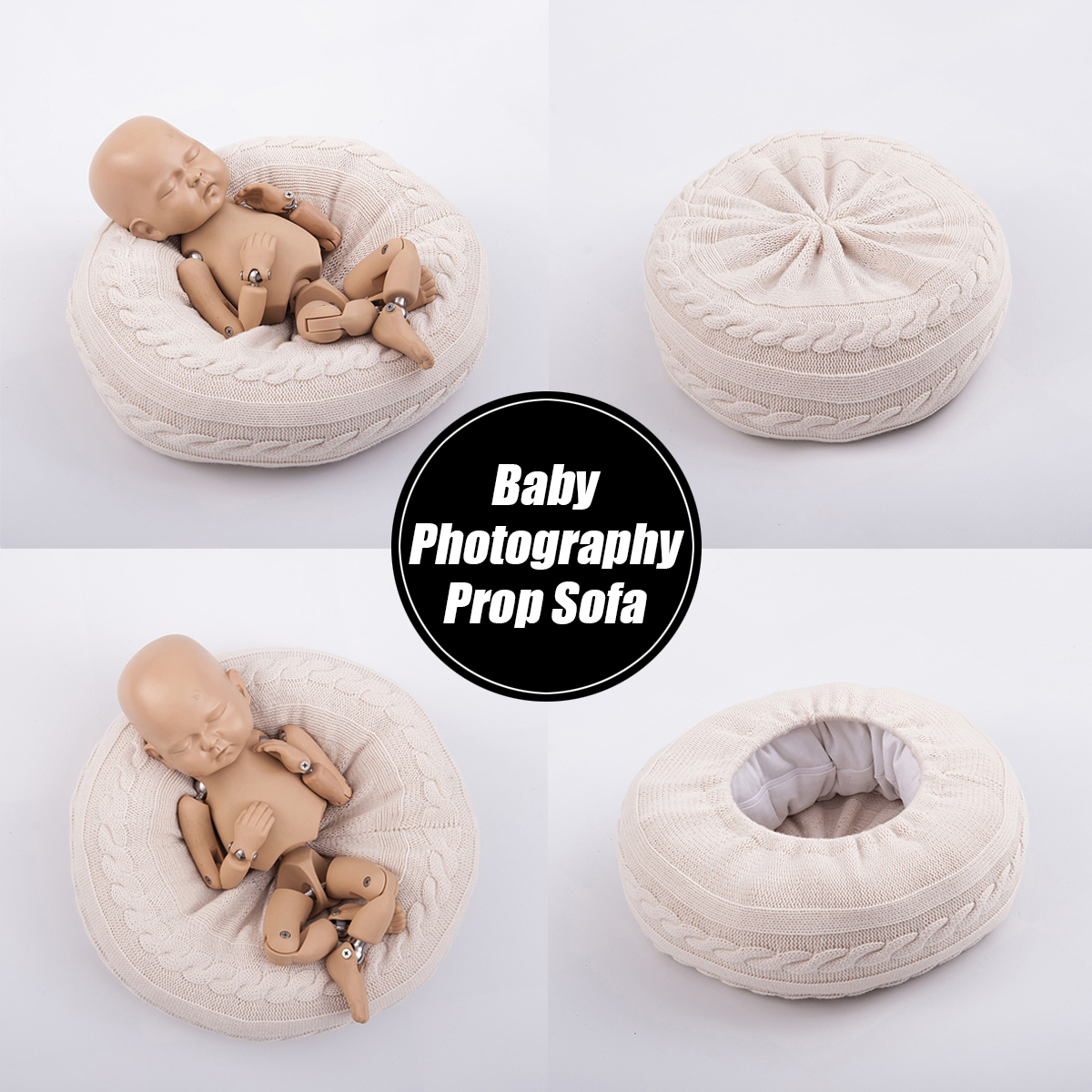 Baby photo prop Baby pillow with buttons Newborn pillow prop Mini pillow for photography. Newborn photo props posing  pillow