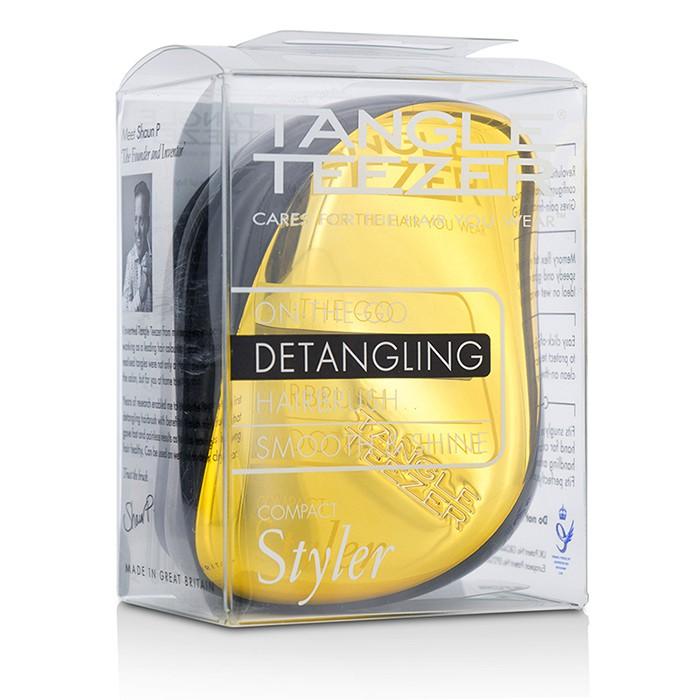 Tangle Teezer - Compact Styler On-The-Go Detangling Hair Brush - # Bronze Chrome -1pc