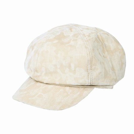 5bd5ac2ed4b WITHMOONS Newsboy Hat Visor Peaked Army Camouflage Beret Cap SLG1046  (Ivory) - Walmart.com