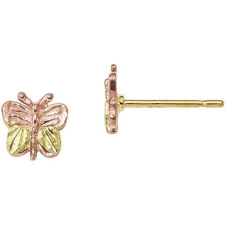 10kt Tri-Color Black Hills Gold Butterfly -