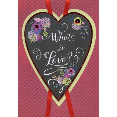 Designer Greetings What is Love Hand Crafted Over Sized: Wife Premium Keepsake Valentine's Day Card ()