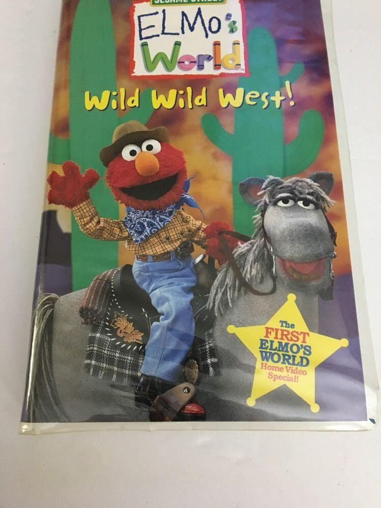 Sesame Street Elmo S World Wild Wild West Vhs 2001