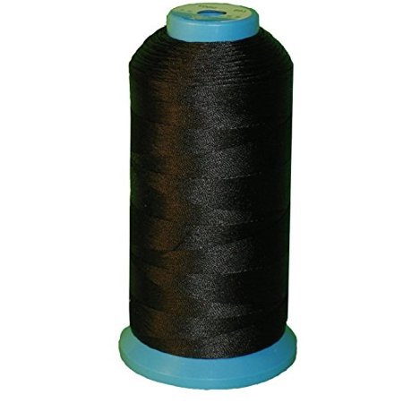 Generic Black Bonded Nylon Sewing Thread 1500 Yard Size T70 #69 for the Upholstery, Outdoor Market, Drapery, Beading, Luggage, -