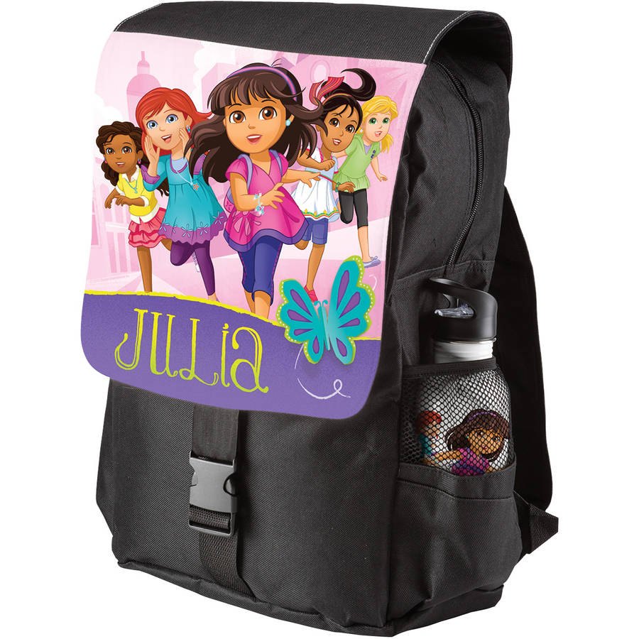 Personalized Dora and Friends Adventure Awaits Black Youth Backpack