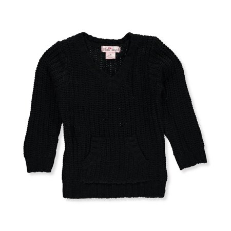 Little Girls Cable (Pink Angel Little Girls' Toddler Cable Knit Sweater (Sizes 2T - 4T) )