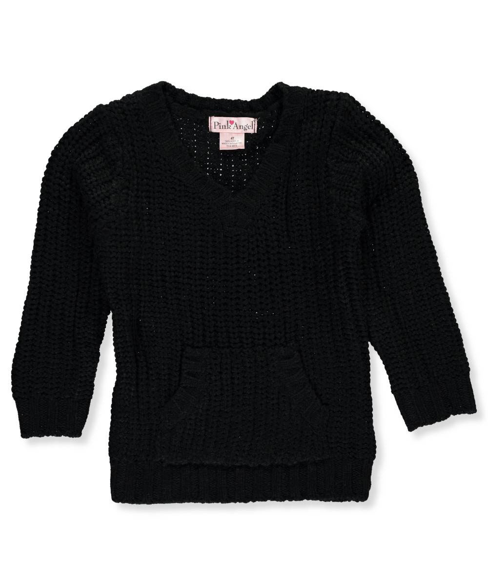 Pink Angel Little Girls' Toddler Cable Knit Sweater (Sizes 2T - 4T)