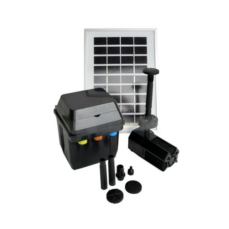 ASC 3 Watts Solar Powered Water Pump with Premium Battery/Timer Control System & LED Lights