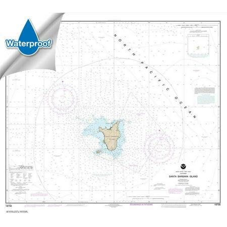 WATERPROOF NOAA Chart 18756: Santa Barbara Island