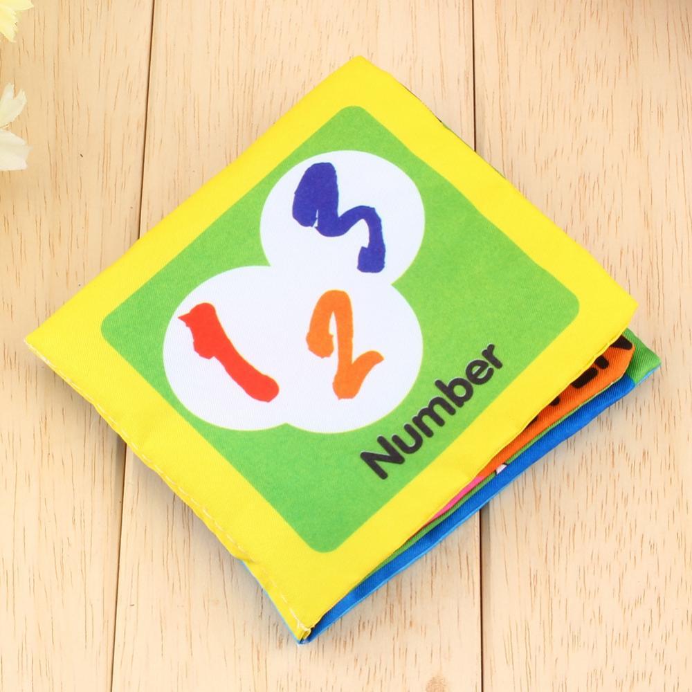 Zerone Kids Baby Toddler Intelligence Development Soft Cloth Learn Cognize Book Teether,Educational Sensory Awareness Development Cloth Book