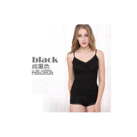 Canis Women Soft Lace Camisole Shorts Babydoll Sleepwear Nightwear Pajamas CA (The Panama Ca)