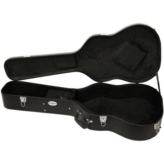 930cd0a197 ChromaCast Acoustic Guitar Hard Case with Guitar Strap and Pick Sampler -  Walmart.com