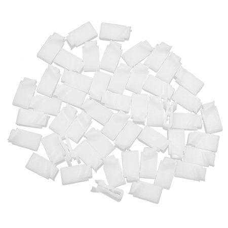 50pcs White Plastic Car Console Retainer Auto Dashboard Instrument Clip Fastener - image 2 of 2