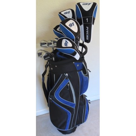 Senior Super Distance Complete Golf Set Driver, 2 Fairway Woods, 2 Hybrids, Irons, Sand Wedge, Putter & Cart Bag All Graphite Mens (2 Iron Hybrid)