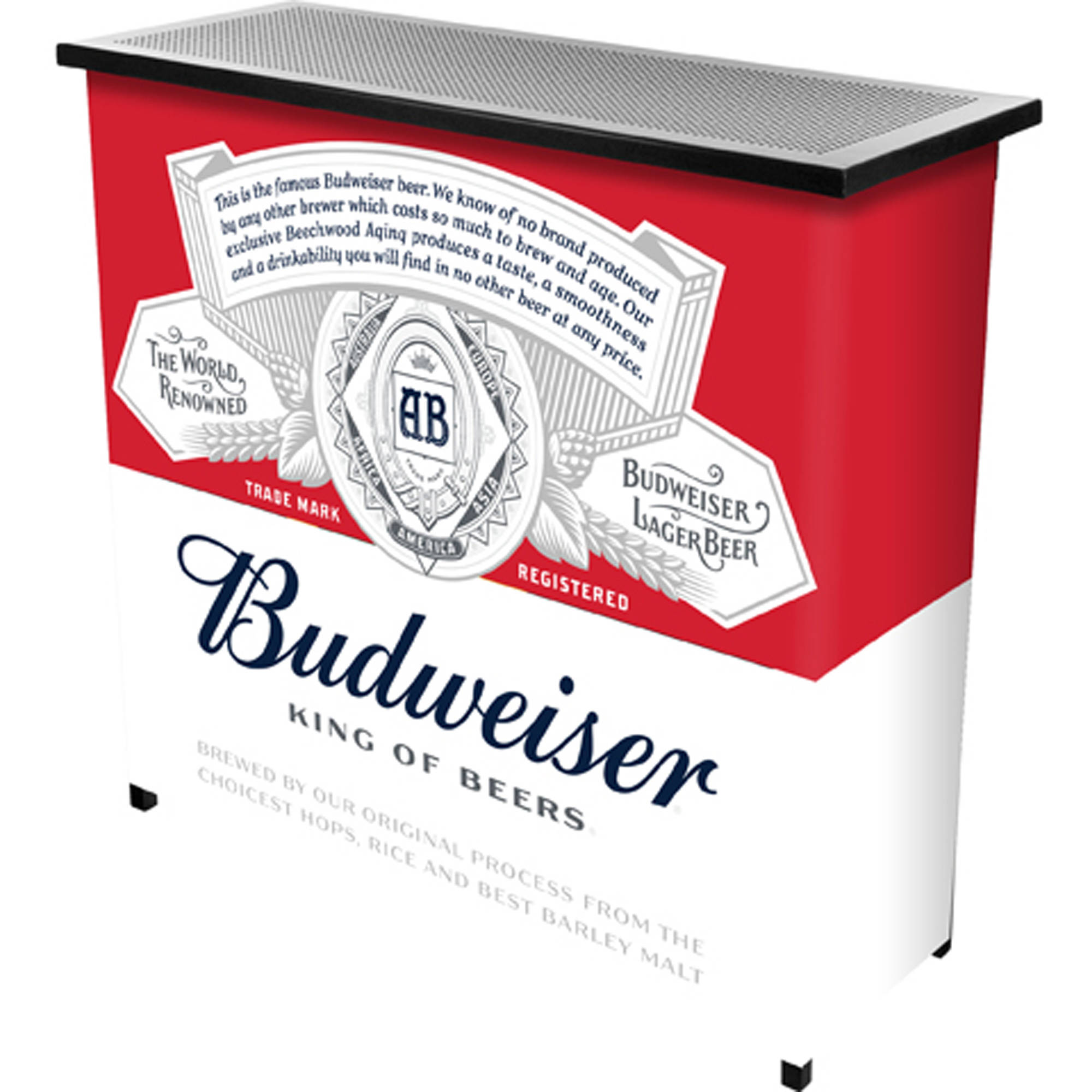 Budweiser Portable Bar with Carrying Case, Label Design