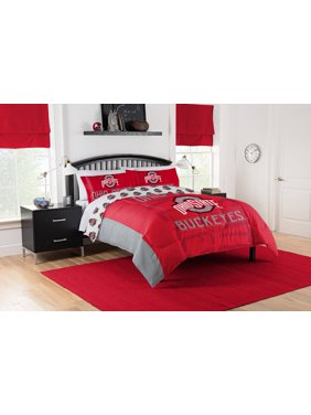 "NCAA Ohio State Buckeyes ""Affiliation"" Full or Queen Comforter Set"