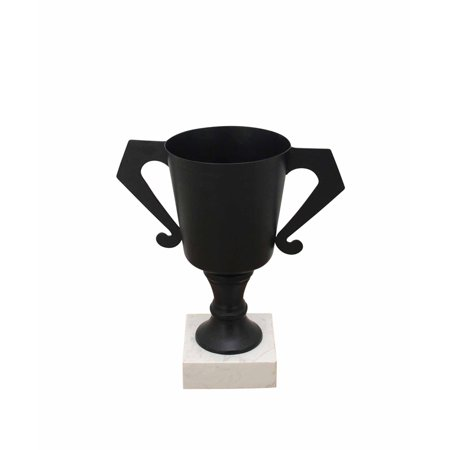 Footed Urn - Usually Designed Metal Footed Urn, Black