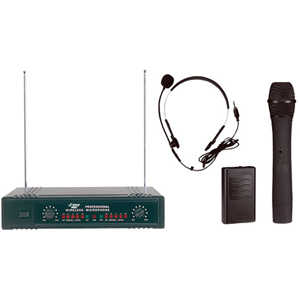Pyle PDWM2700 Wireless Microphone System 160 MHz to 270 MHz System Frequency MICROPHONE by