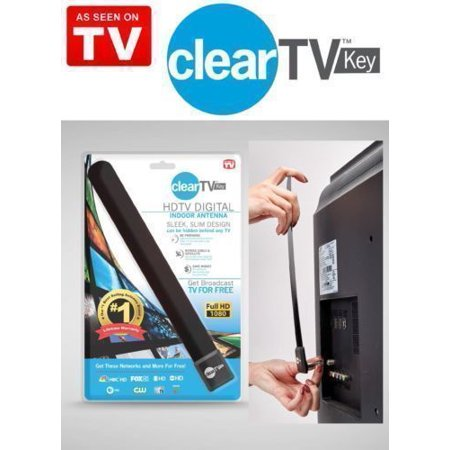 Portable Hdtv Antenna (Top Clear TV Key HDTV FREE TV digita l Indoor Antenna Ditch Cable As Seen on TV)
