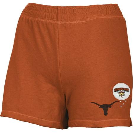 Texas Longhorns - Glitter Logo Girls Youth Athletic Shorts