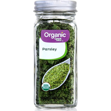(2 Pack) Great Value Organic Parsley Flakes, 0.3 oz ()