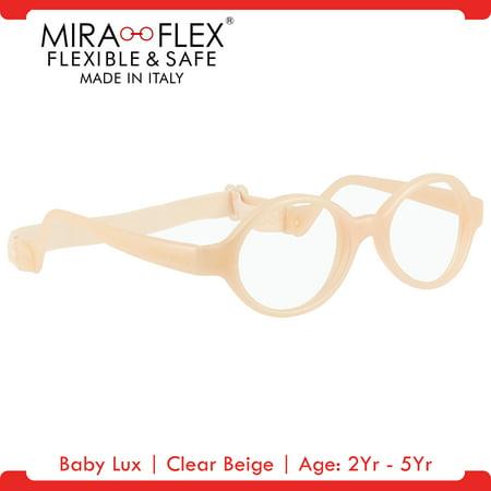miraflex baby lux unbreakable kids eyeglass frames 3812 clear beige age 2yr 5yr walmartcom - Miraflex Frames