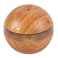 LAFGUR USB Mini Light Humidifier Ultrasonic Diffuser Humidifier (Light Wood Color)