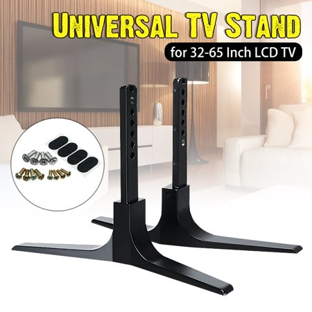 Top Mount Base - 32-65'' Universal TV Stand Base Plasma LCD Flat Screen Table Top Pedestal Mount