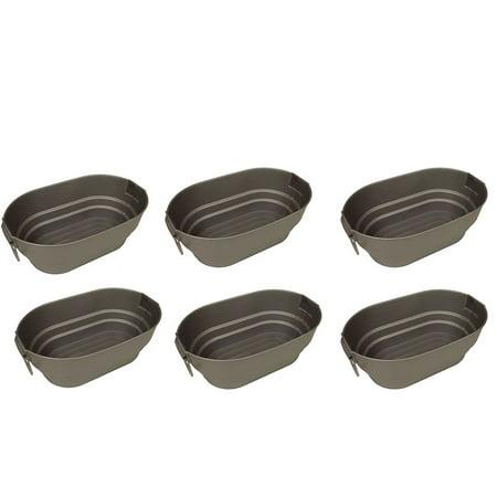 Contico Silver Finish Faux Galvanized Nesting Storage Tub, 9 Quarts (6 Pack)](Galvanized Tubs)
